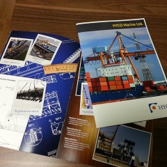 A4 brochure with glossy cover