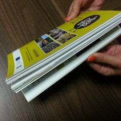 A5 brochure with a paper clip 52 pages
