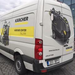Наклейки на Kärcher машину