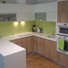 Roheline fotoklaas köögi tagaseinale