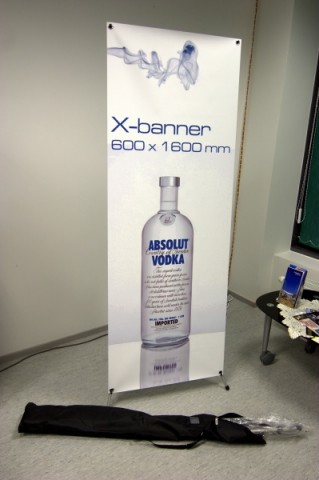 X-banner stand 600x1600mm