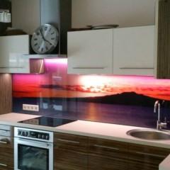 Photo glass for kitchen