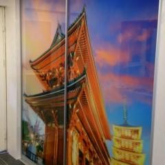 Фотопринт на раздвижных дверях