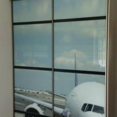 Шкаф купе с картинокй самолёта
