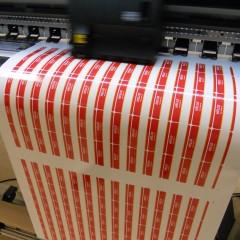 Печать наклеек размером 80х40мм