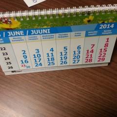Table calendar. Size 210 х 125mm