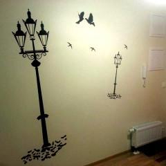 Наклейки на стену (вырезка из плёнки)