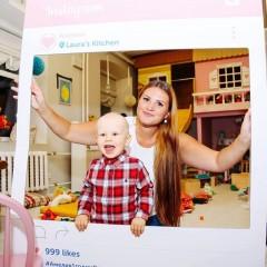Instagram frame for children's birthday